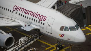 Un avion de la compagnie Germanwings à l'aéroport de Cologne (Allemagne), le 16 octobre 2014. (MAXPPP)