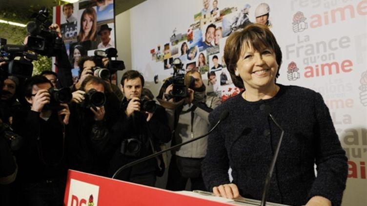 Martine Aubry le 12 janvier 2010 (AFP - Bertrand Guay)