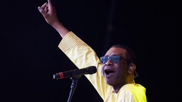 Youssou N'Dour lors d'un festival de musique à Barcelone, en 2017. (ALEJANDRO GARC?A / EFE)