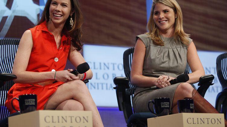 Barbara Bush et Jenna Bush-Hager à New York (Etats-Unis), le 22 septembre 2010. (CHIP EAST / REUTERS)