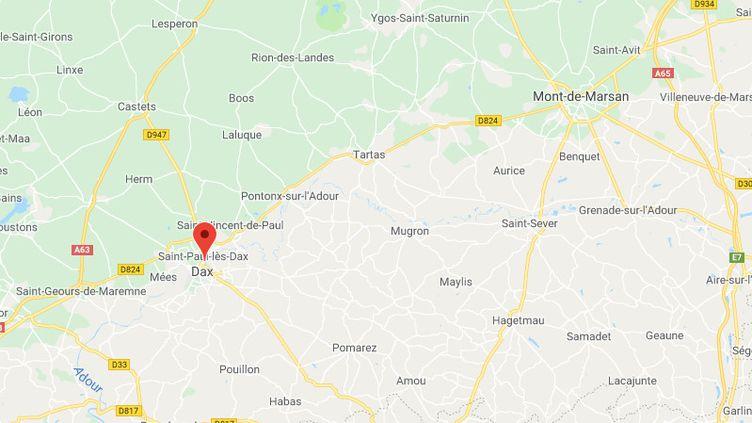 La commune de Dax, dans les Landes (CAPTURE D'ÉCRAN GOOGLE MAPS)