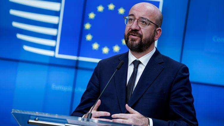 """Le coronavirus, """"une crise probablement sans précédent pour l'Union européenne"""", selon le président du Conseil européen, Charles Michel (photo d'illustration, le 16 mars 2020 à Bruxelles (Belgique). (KENZO TRIBOUILLARD / AFP)"""