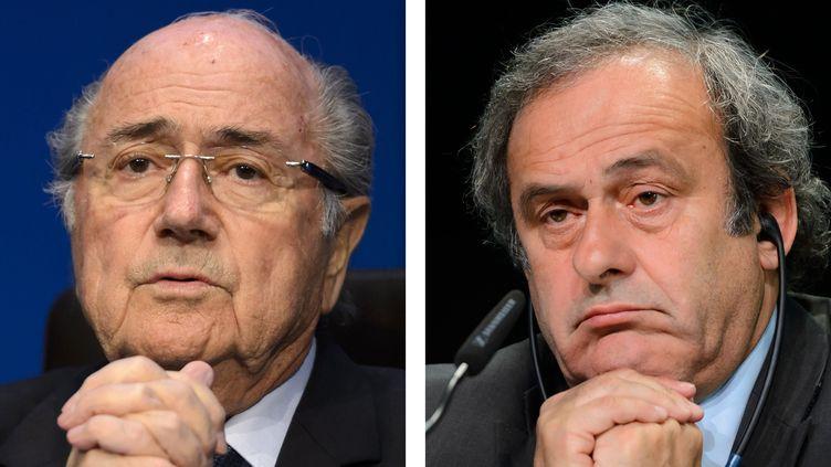 Sepp Blatter (FIFA) et Michel Platini (UEFA) (STF / AFP)