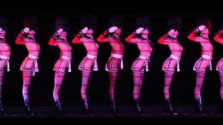 Danceuses du Crazy Horse lors d'un show à Madrid en décembre 2011  (Pierre-Philippe Marcou. AFP)