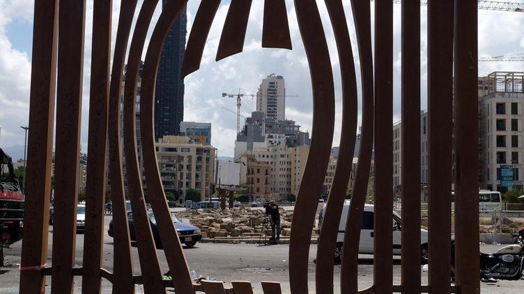 Après l'explosion qui a eu lieu le mardi 4 août 2020 sur le port de Beyrouth, au Liban,image dedégâts dans le centre-ville. (NATHANAEL CHARBONNIER / ESP - REDA INTERNATIONALE)