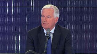Michel Barnier, ancien commissaire européen, négociateur du Brexit et membre des Républicains, le 14 juin 2021 sur franceinfo.  (FRANCEINFO / RADIO FRANCE)