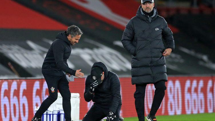 L'intense émotion de Ralph Hasenhuttl, l'entraîneur de Southampton vainqueur de Liverpool de Jurgen Klöpp (ADAM DAVY / POOL)
