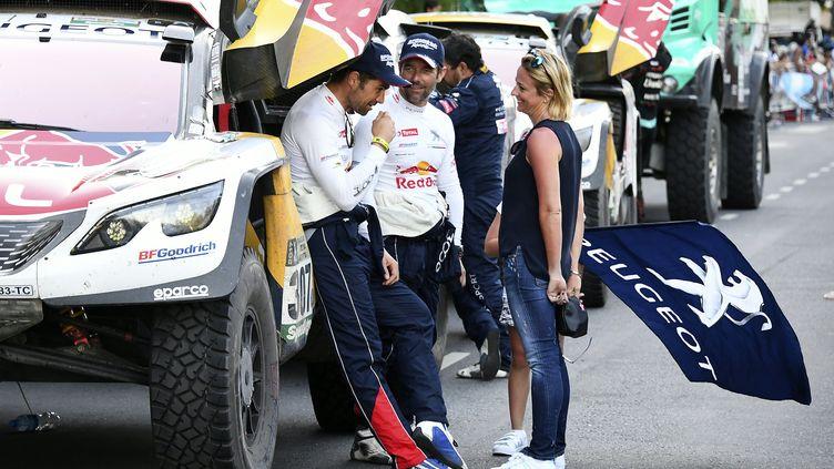 Le Français Sébastien Loeb a participé à l'édition du Dakar en 2017. (FRANCK FIFE / AFP)