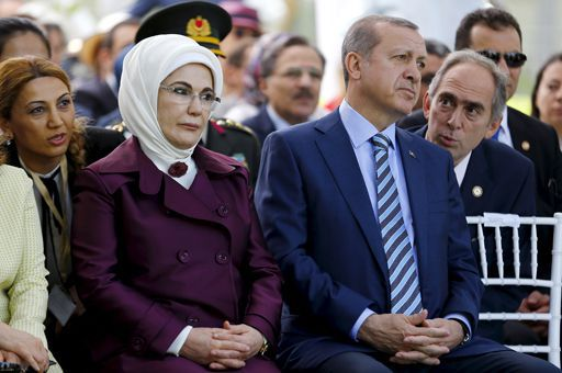 Le président turc Recep Tayyip Erdogan et son épouse Emine. ( REUTERS - Ivan Alvarado)
