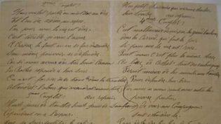 (Un des manuscrits de La Chanson de Craonne saisis par la police dans le courrier des poilus.)