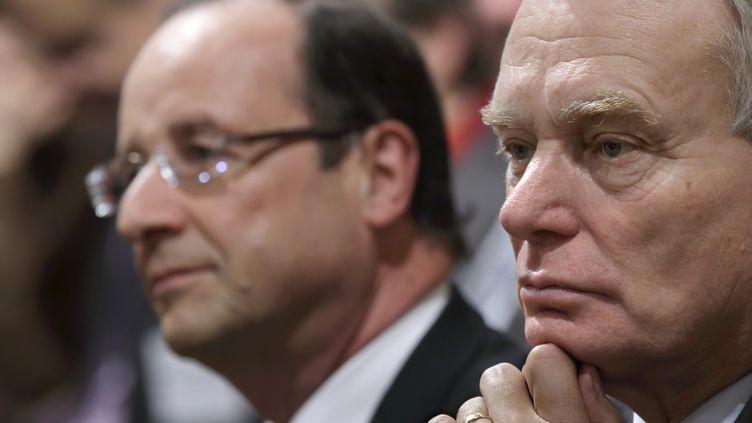 François Hollande et Jean-Marc Ayrault, le 19 novembre 2012 à Paris. (PHILIPPE WOJAZER / AFP)