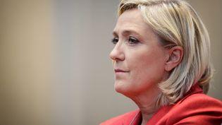 La présidente du Front national Marine Le Pen à Paris, le 11 octobre 2016. (MAXPPP)