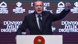 Le président de la Turquie Recep Tayyip Erdogan, à Istanbul, le 12 mars 2017. (OZAN KOSE / AFP)