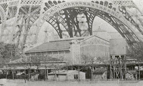La gare Lisch sur le Champ de Mars, au pied de la Tour Eiffel  (DR)
