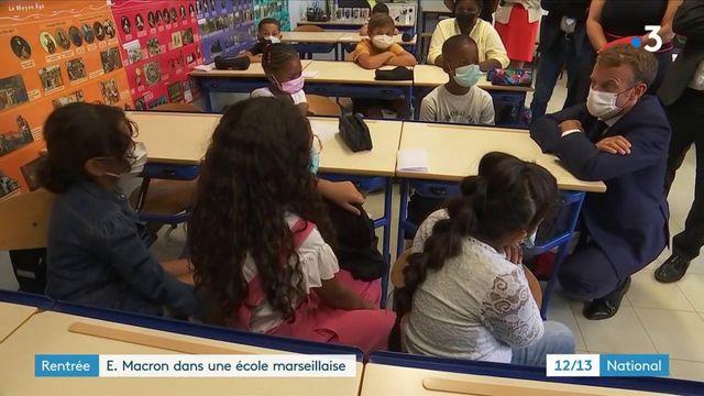 Marseille : Emmanuel Macron dans une école des quartiers nord pour la rentrée