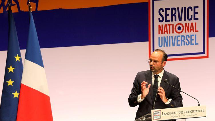 En septembre 2018, Édouard Philippe, le Premier ministre,avait lancé un cycle des concertations territoriales sur le Service national universel (SNU). (ANG?LIQUE SUREL / MAXPPP)