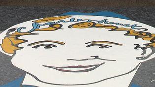 Un portrait artistique de Charles Trenet à Narbonne. (FRANCEINFO)