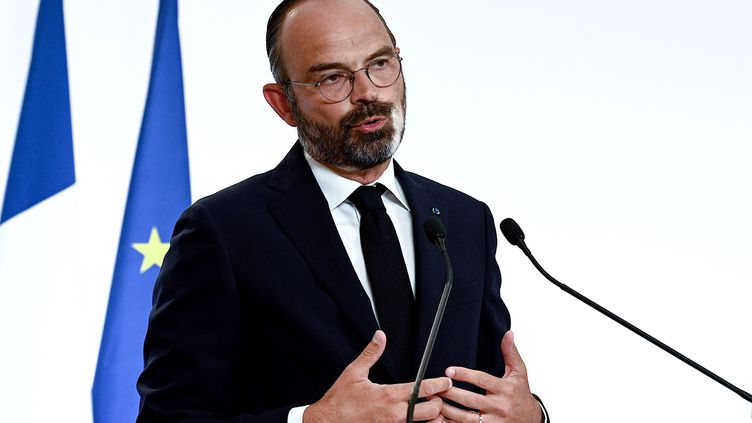 Le Premier ministre Edouard Philippe annonce la deuxième phase du déconfinement, le 28 mai 2020. (PHILIPPE LOPEZ / POOL)