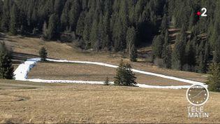 Piste de neige Les Saisies. (France 2)