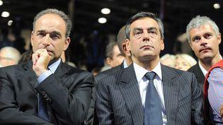 Le secrétaire général de l'UMP, Jean-François Copé, et l'ex-Premier ministre, François Fillon, le 4 septembre 2011 à Marseille. (WITT / SIPA)
