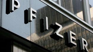 Le siège général de l'entreprise pharmaceutique Pfizer à New York (Etats-Unis), photographié le 22 avril 2008. (MAXPPP)