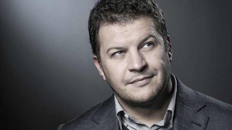 L'écrivain Guillaume Mussoà Paris le 12 avril 2018. (JOEL SAGET / AFP)