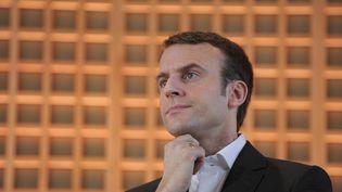 Emmanuel Macron, le 29 janvier 2015. (ERIC PIERMONT / AFP)