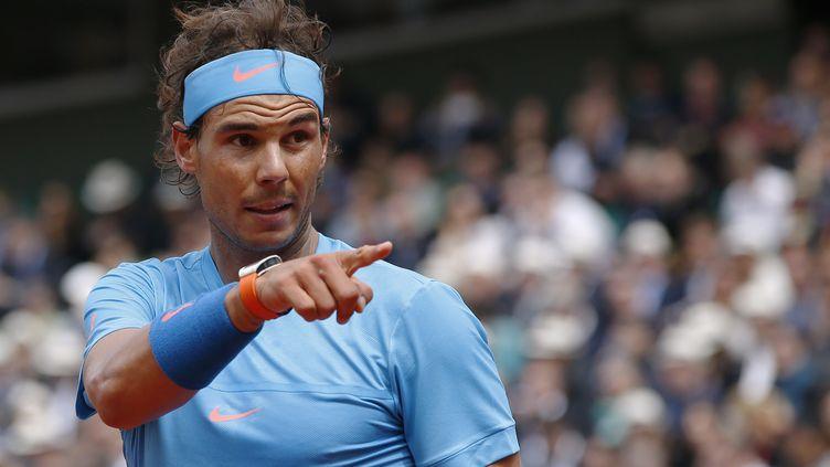 Rafael Nadal pendant Roland-Garros 2015. (PATRICK KOVARIK / AFP)