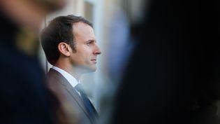 Emmanuel Macron, à l'Elysée, à Paris, le 6 novembre 2017. (LUDOVIC MARIN / AFP)