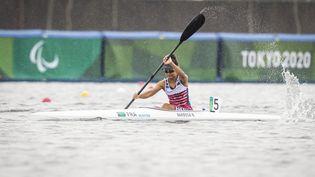 La para kayakiste Nelia Barbosa lors des Jeux paralympiques de Tokyo. (G.MIRAND)