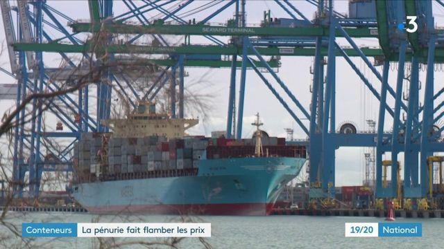 Commerce : le prix des conteneurs multiplié par cinq