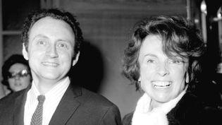 Le metteur en scene Andre Delvaux et la productrice Mag Bodard (1972)  (UNIVERSAL PHOTO/SIPA)