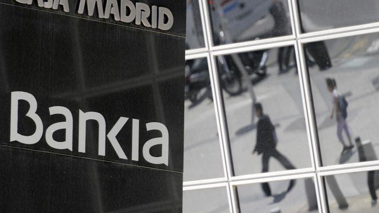 Le siège de Bankia à Madrid (Espagne), le 29 mai 2012. (DOMINIQUE FAGET / AFP)