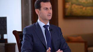 Le président syrien Bachar Al-Assad lors d'un entretien accordé au média NBC, le 14 juillet 2016 à Damas. (SANA SANA / REUTERS)