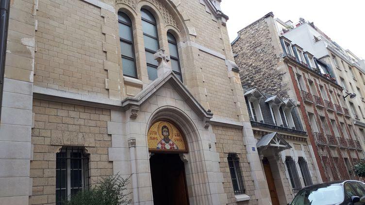 L'église orthodoxe de la rue de Simplon dans le XVIIIe arrondissementde Paris. (CECILIA ARBONA / RADIO FRANCE)