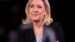 Marine Le Pen, la présidente du Rassemblement national, le 26 janvier 2020 à Hénin-Beaumont dans le Pas-de-Calais. (FRANCOIS LO PRESTI / AFP)