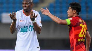 Stéphane Mbia, sous ses anciennes couleurs du Wuhan FC. (LI BO / XINHUA)