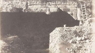 """Le """"Tombeau des rois"""", à Jerusalem, entre 1863 et 1866. (PATRICE SCHMIDT / MUSEE D'ORSAY / AFP)"""