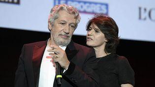 L'acteur Alain Chabat et la comédienne Irène Jacob, nouvelle présidente de l'Institut Lumière, à la soirée d'ouverture du festival (JOEL PHILIPPON / MAXPPP)