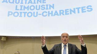 Le nouveau président PS de la régionAquitaine-Limousin-Poitou-Charentes,Alain Rousset, le 4 janvier 2016, lors de son élection à Bordeaux (Gironde). (GEORGES GOBET / AFP)