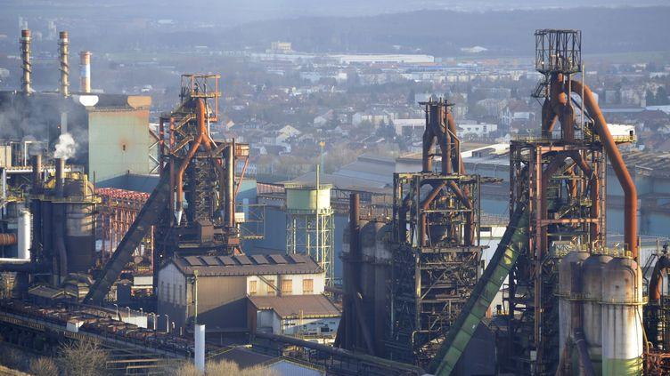 Le site de l'usine sidérurgique ArcelorMittal de Florange (Moselle), le 30 novembre 2012. (JEAN-CHRISTOPHE VERHAEGEN / AFP)