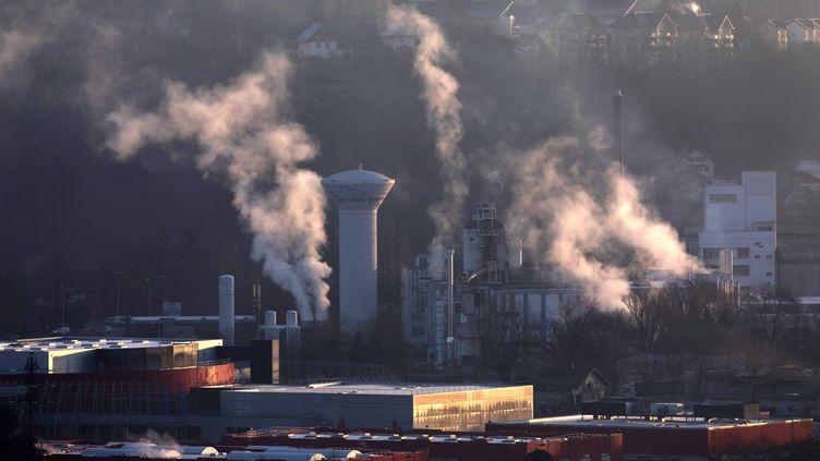 Lazone industrielle de Chambéry (Savoie), le 6 janvier 2020. (MAXPPP)