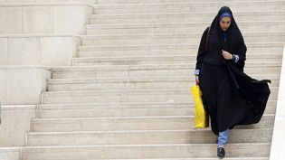 Une femme à Téhéran le 5 mai 2017 (ABEDIN TAHERKENAREH / EPA)