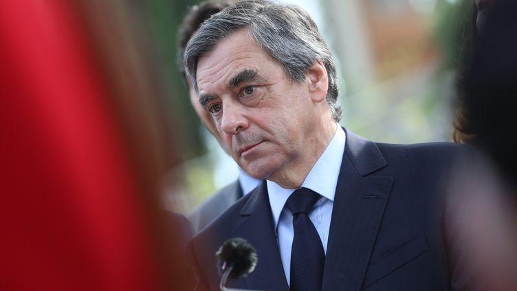 François Fillon visite le mémorial du débarquement et de la libération enProvence, à Toulon (Var) le 31 mars 2017. (MAXPPP)
