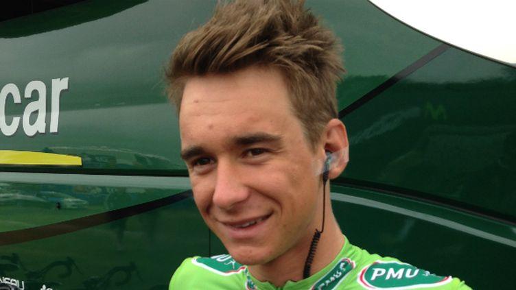 Bryan Coquard (Europcar) avec le maillot vert du Tour de France
