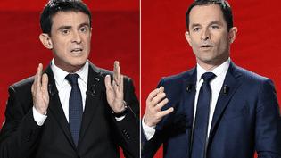 Les deux finalistes de la primaire de la gauche, Manuel Valls et Benoît Hamon. (REUTERS)