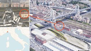 INFOGRAPHIE. Visualisez la configuration des lieux du viaduc effondré à Gênes (NICOLAS ENAULT)