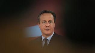 David Cameron, à Glasgow, au Royaume-Uni, le 16 avril 2015. (PETER MACDIARMID / AFP)