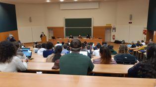 Amphithéâtre de la faculté des sciences de Vandoeuvre-les-Nancy (Meurthe et Moselle) . (CEDRIC LIETO / RADIO FRANCE)