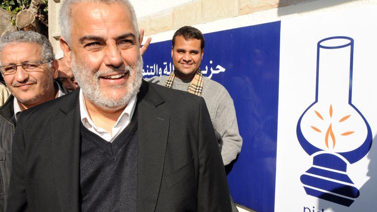 Abdelilah Benkirane, le secrétaire général du Parti de la justice et du développement marocain, le 26 novembre 2011, à Rabat (Maroc). (ABDELHAK SENNA / AFP)